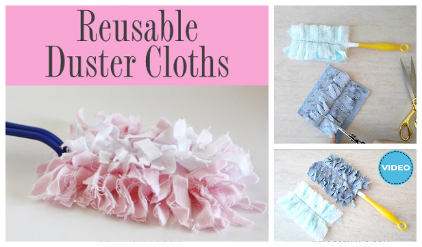 DIY Reusable Swiffer Dusting Cloth Sewing Tutorial