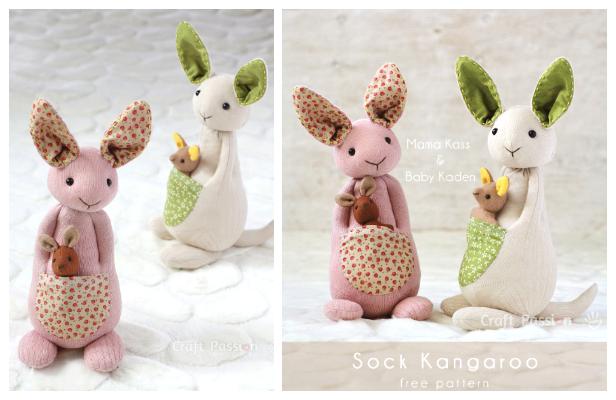 DIY Sock Kangaroo Free Sewing Pattern
