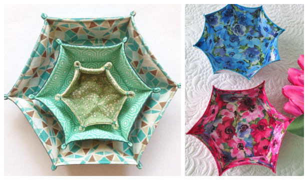 Easy DIY Fabric Bowl Free Sewing Patterns