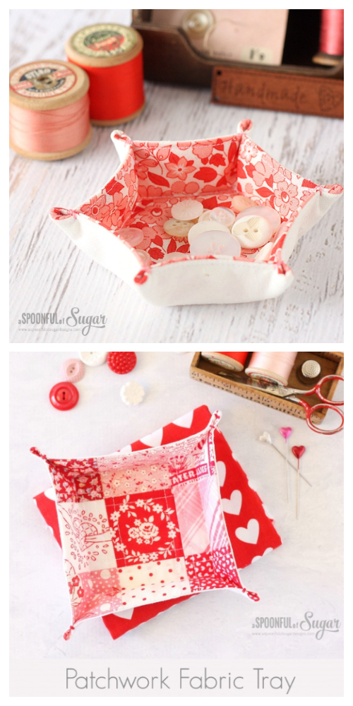 Easy DIY Fabric Tray Free Sewing Patterns