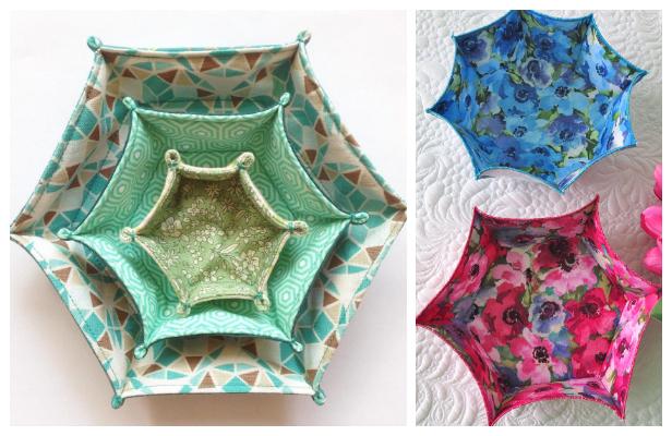 Easy DIY Fabric Bowl Free Sewing Patterns