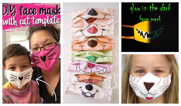 DIY Fun Fabric Cat Face Mask Free Sewing Pattern + Video