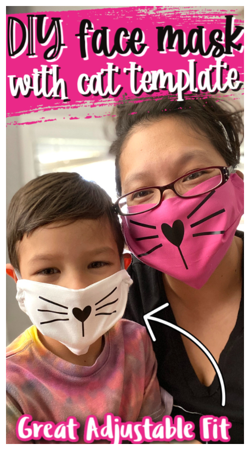 DIY Fun Fabric Cat Face Mask Free Sewing Pattern & Tutorial