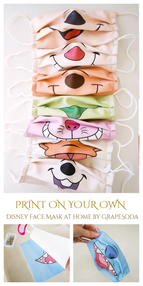 Print Your Own Pattern on Fabric Disney Face Mask DIY Tutorial