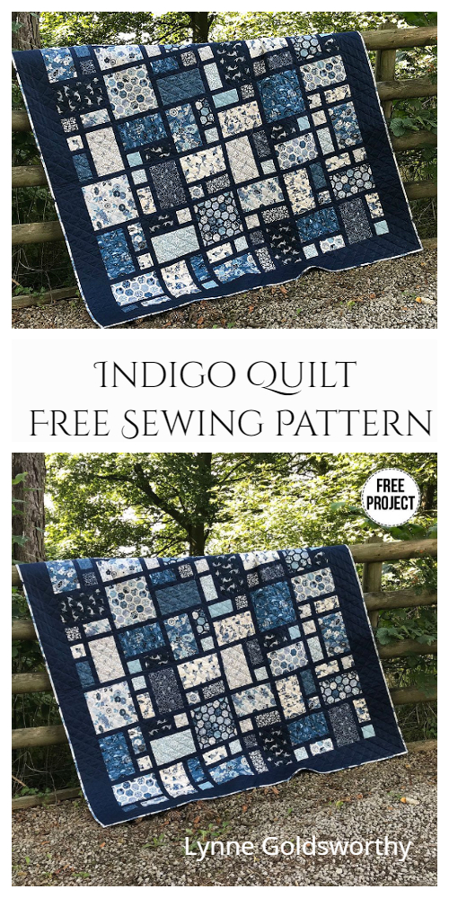 Indigo Quilt Free Sewing Pattern