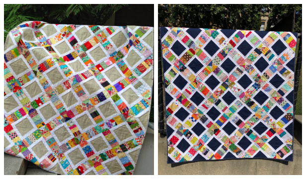 Scrappy Sandwich Quilt Free Sewing Pattern