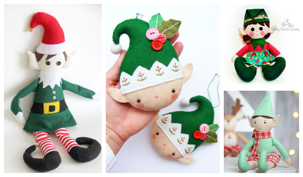 DIY Fabric Christmas Elf Doll Sewing Patterns Free & Paid