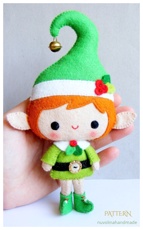 DIY Felt Santa's Elf Doll Sewing Patterns