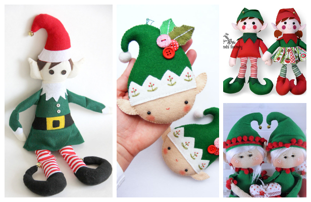 DIY Fabric Christmas Elf Doll Sewing Patterns