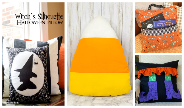 DIY Fabric Halloween Pillow Free Sewing Patterns