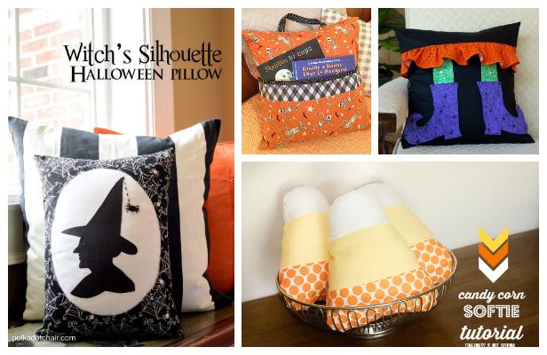 DIY Fabric Halloween Pillow Free Sewing Patterns
