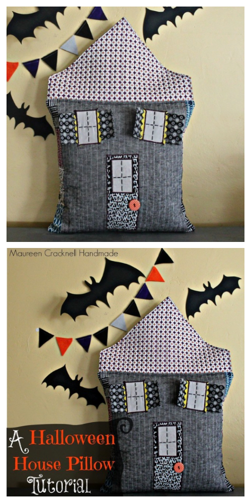 Haunted Halloween Fabric House Free Sewing Pattern