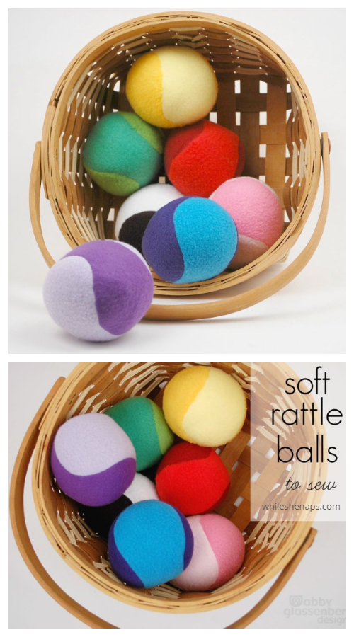 DIY Fabric Soft Rattle Ball Free Sewing Pattern & Tutorial