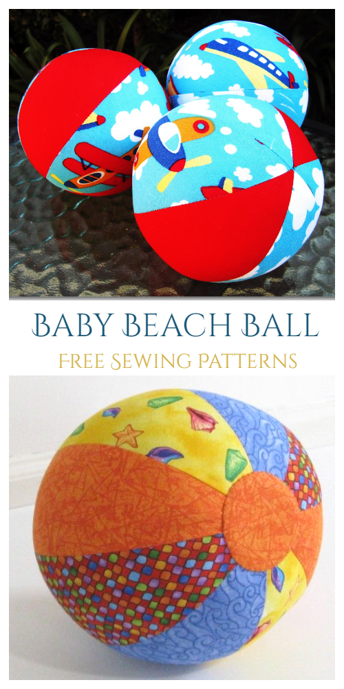 DIY Quilted Baby Beach Ball Free Sewing Pattern & Tutorial