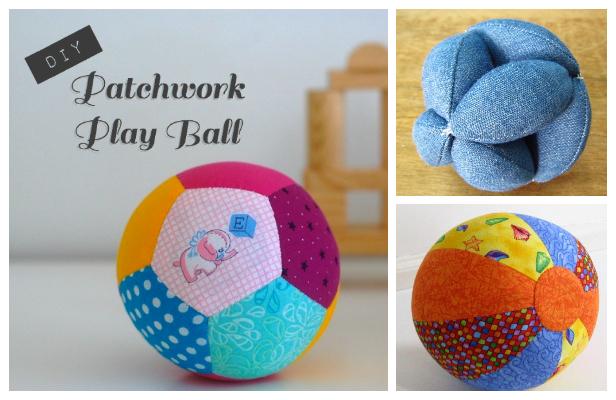DIY Fabric Play Ball Free Sewing Patterns