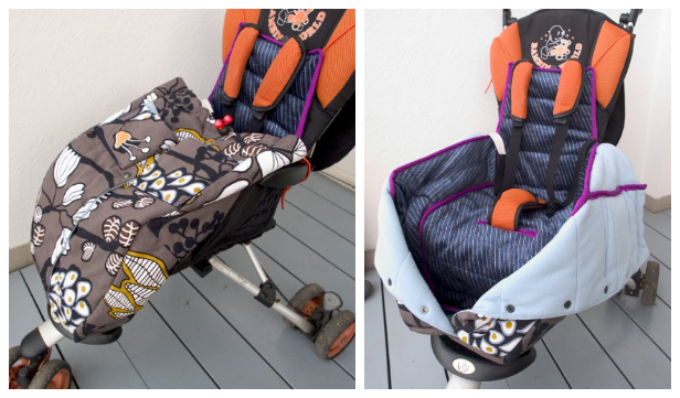 DIY Fabric Stroller Sleeping Bag Free Sewing Pattern & Tutorial