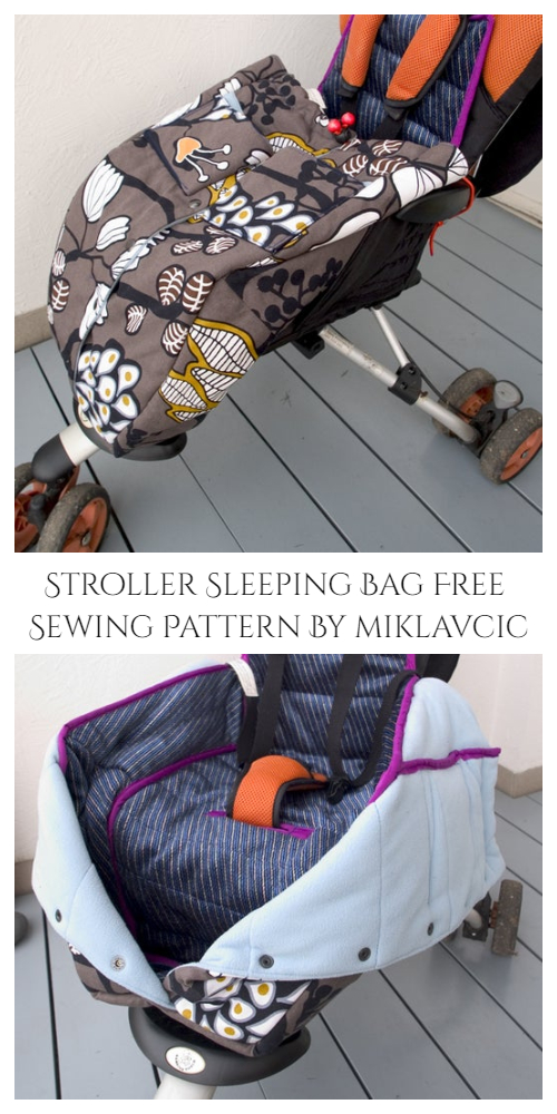 DIY Fabric Stroller Sleeping Bag Free Sewing Pattern & Tutorial