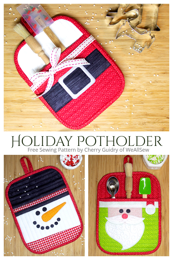 DIY Fabric Holiday Potholder Free Sewing Patterns