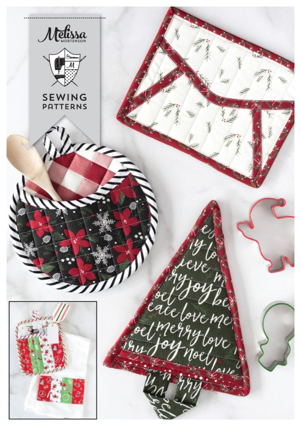 DIY Fabric Quilted Christmas Potholder Sewing Patterns