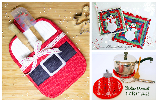 DIY Fabric Christmas Pot Holder Free Sewing Patterns