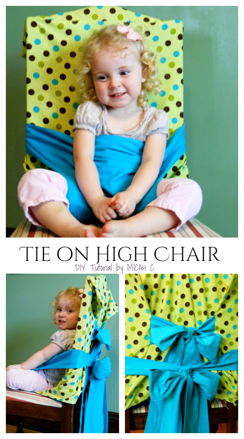 DIY Fabric Tie On High Chair Free Sewing Pattern