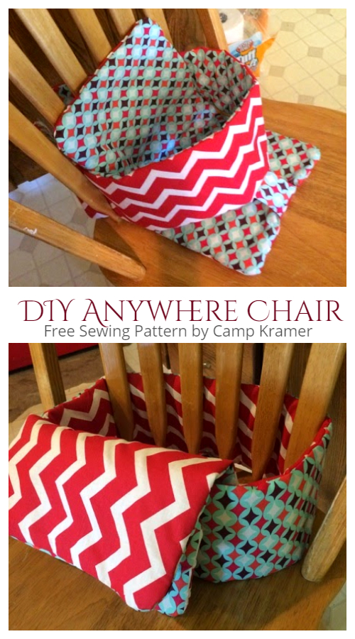 DIY Fabric  Anywhere High Chair Free Sewing Pattern