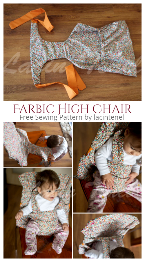 DIY Fabric Baby Travel High Chair Free Sewing Pattern