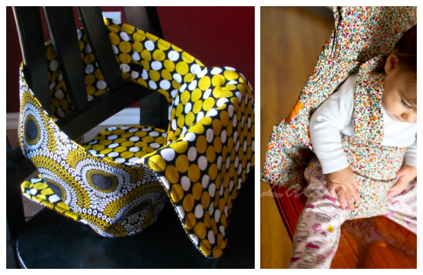 DIY Fabric Baby Travel High Chair Free Sewing Patterns