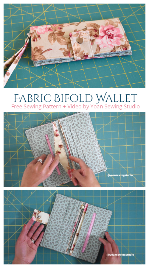 DIY Fabric Bifold Wallet Free Sewing Pattern + Video