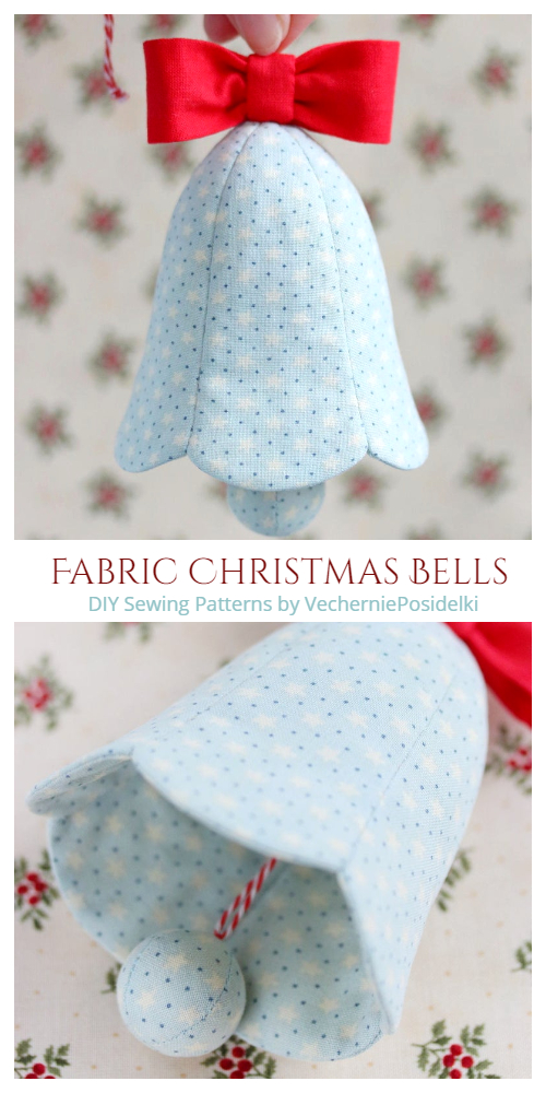 DIY Fabric Christmas Bells Sewing Patterns