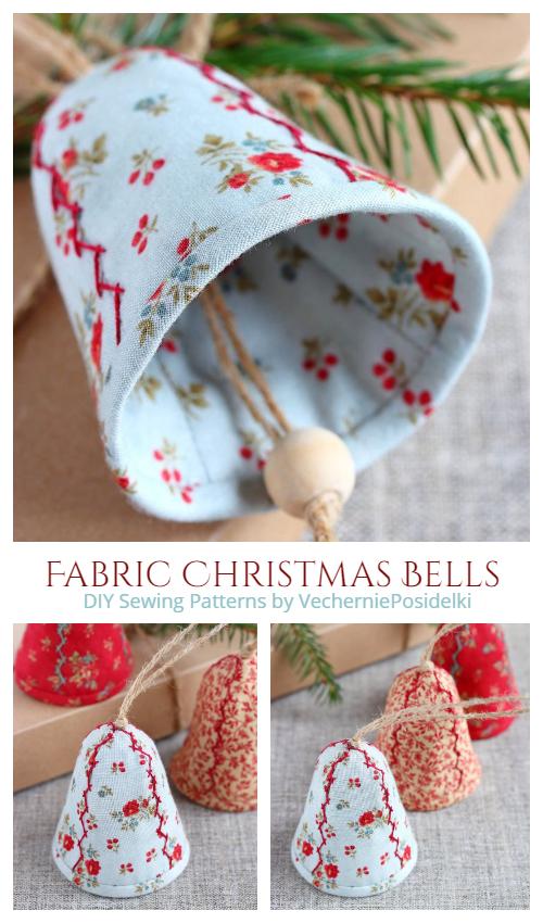 DIY Fabric Christmas Bells Sewing Patterns
