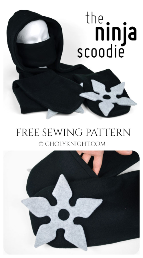 DIY The Ninja Scoodie Free Sewing Patterns