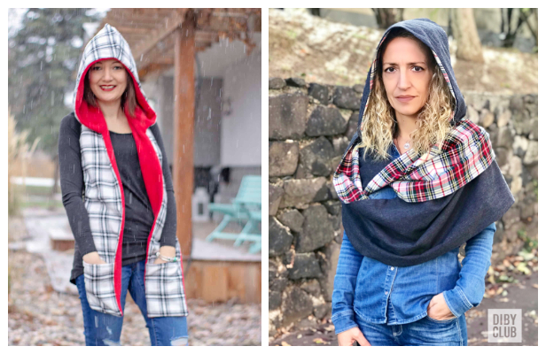 DIY Fabric Hoodie Scarf Sewing Patterns