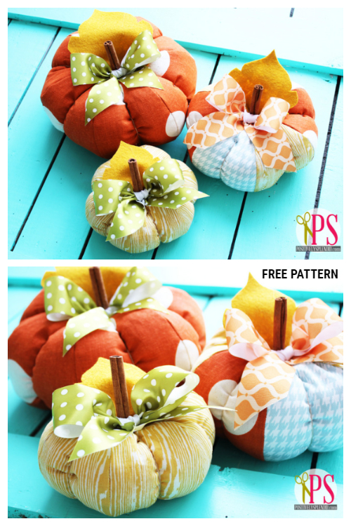 DIY Fabric Pumpkin Free Sewing Patterns