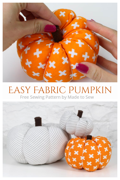 DIY Easy Fabric Pumpkin Free Sewing Patterns