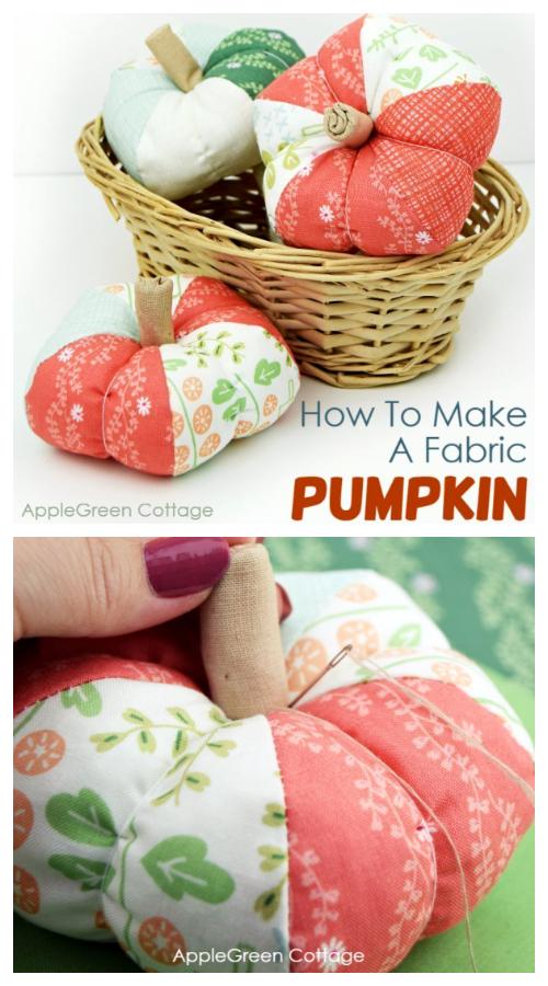 DIY Fabric Pumpkin Free Sewing Patterns (3 Sizes)