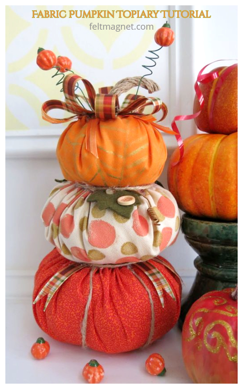 DIY Fabric Pumpkin Free Sewing Patterns (3 Sizes)