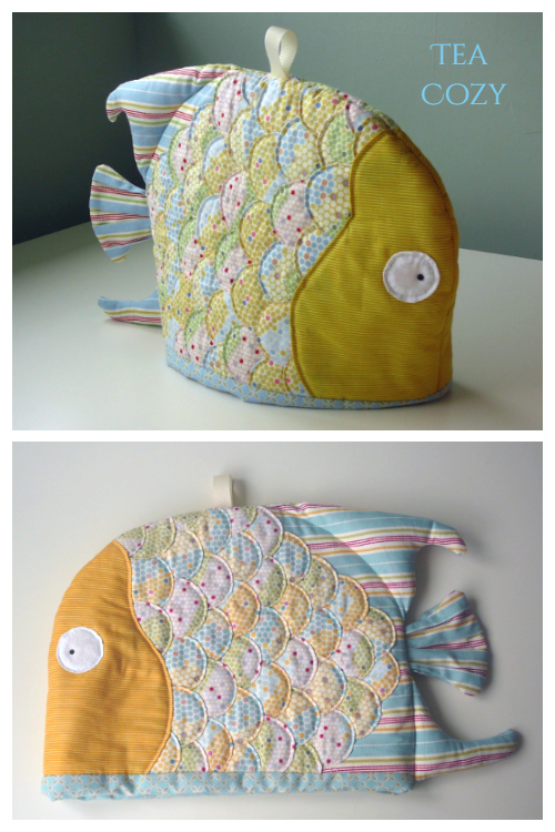 DIY Fabric Scrapbuster Teapot Cozy Free Sewing Patterns