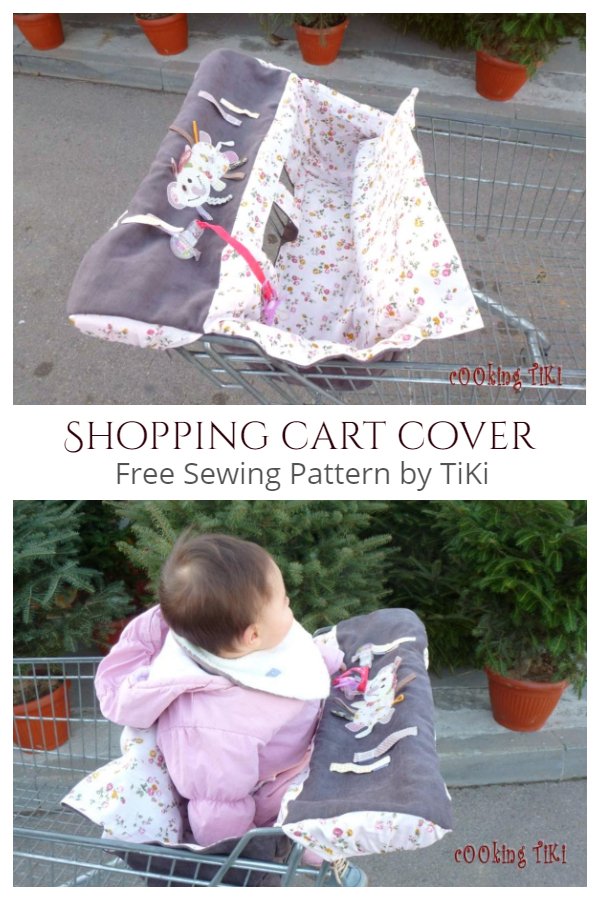 DIY Fabric Shopping Cart Cover Free Sewing Patterns
