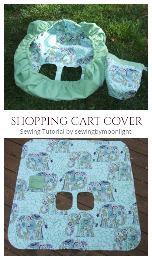 DIY Fabric Shopping Cart Cover Easy Sewing Tutorial