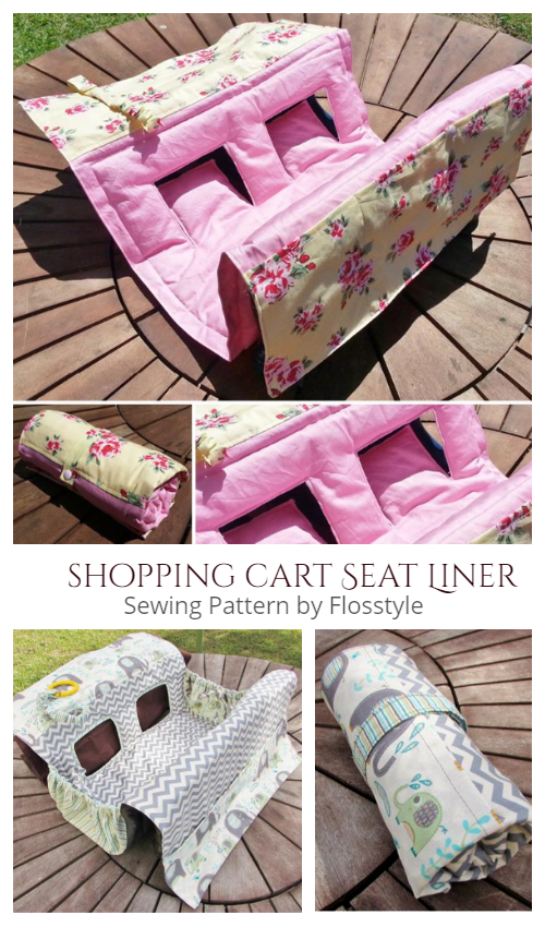 DIY Universal Shopping Cart and High Chair Cover Free Sewing Patterns