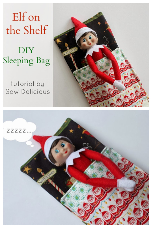 DIY Fabric Sleeping Bag for Elf Free Sewing Pattern
