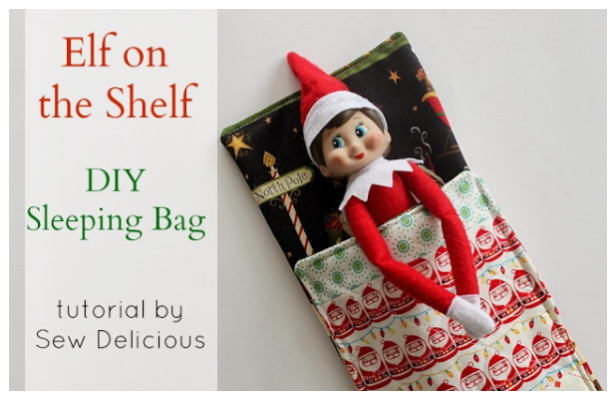 DIY Fabric Sleeping Bag for Elf Free Sewing Pattern