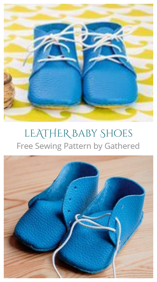 DIY Leather Baby Shoes Free Sewing Patterns