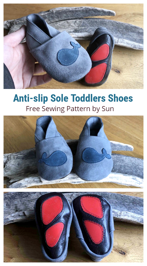DIY Leather Anti-slip Sole Baby Shoes Free Sewing Patterns