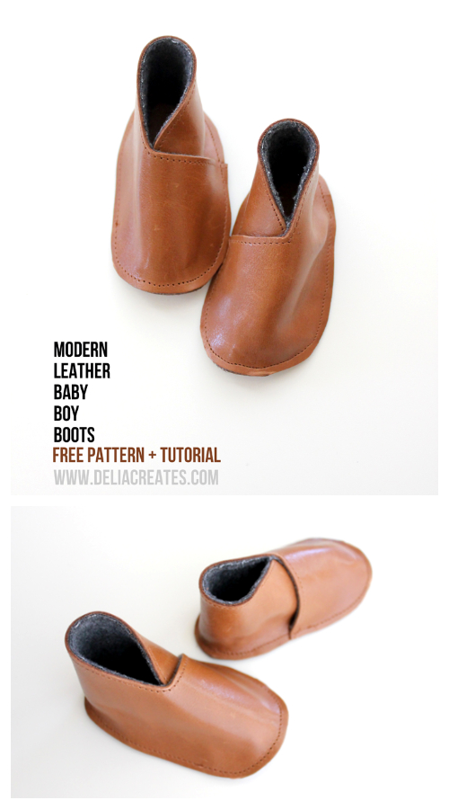 DIY Leather Baby Ballet Booties Shoes Free Sewing Patterns