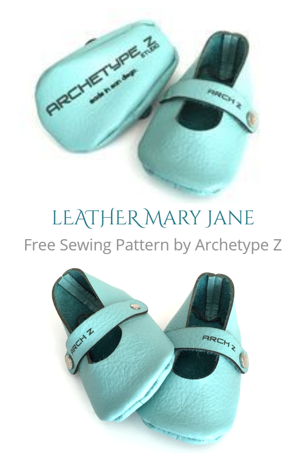 DIY Leather Baby Mary Jane Shoes Free Sewing Patterns