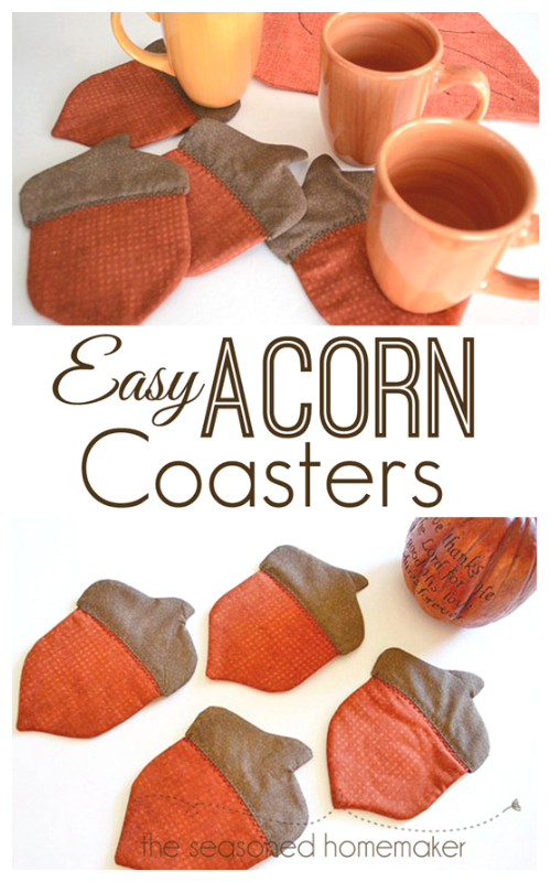 DIY Patchwork Acorn Coaster Free Sewing Patterns