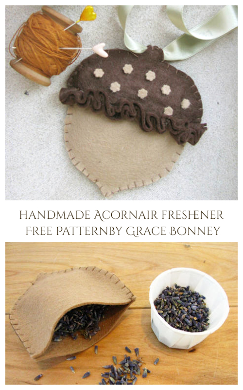 DIY Acorn Air Freshener Free Sewing Patterns