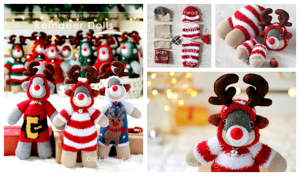 DIY Sock Reindeer Free Sewing Pattern & Tutorial